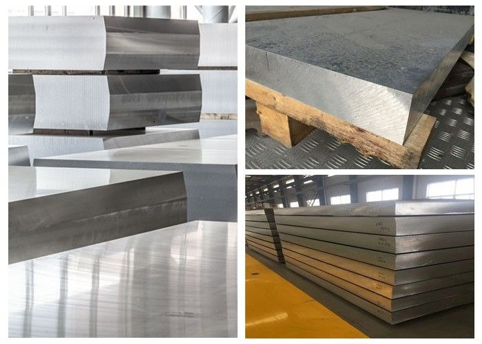 Hard 7075 Thick Aluminum Sheet Metal , 120mm 115mm 110mm Flat Aluminum Sheet