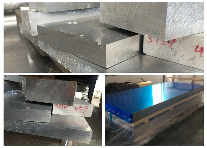 T651 T6 Aluminum Sheet Metal , 14 Gauge Aluminum Sheet Metal AlZn5.5MgCu